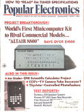 Popular Mechanics advertising the Altair 8800. Click to enlarge