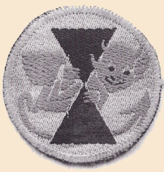mono photo of original badge